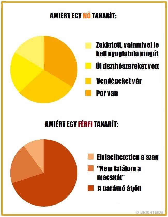 16 infografika, amely megmutatja a férfiak és nők közti hatalmas különbségeket – latnodkell