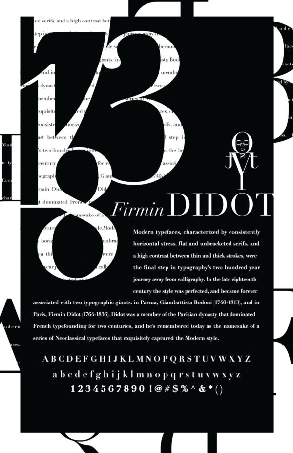Type Specimen Poster by Samantha Khan, via Behance