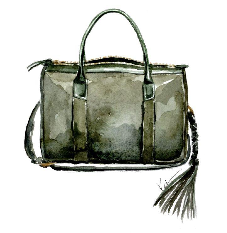 Lotuff Handbags in Watercolor