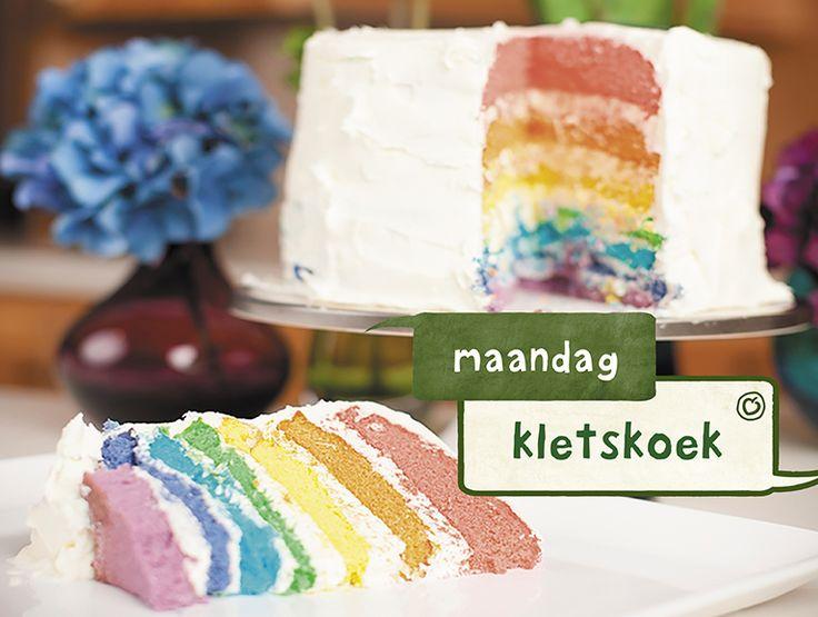 Dankzij zijn spectaculaire Kiekeboe-taart wint Menno 'Heel #Holland #Bakt #2014'. Heb jij wel eens een Kiekeboe-taart gemaakt? We zijn erg benieuwd naar jullie creaties. Plaats hieronder een foto van jouw Kiekeboe-taart en inspireer ons. http://mi8.ly/76gqew #laplace #taart #gebak #regenboog #HHB #kiekeboe #menno #cake #recept #tip