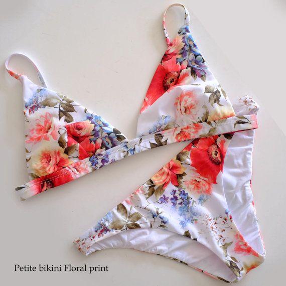 Petite Bikini in Floral print by Swimstylereadytowear on Etsy