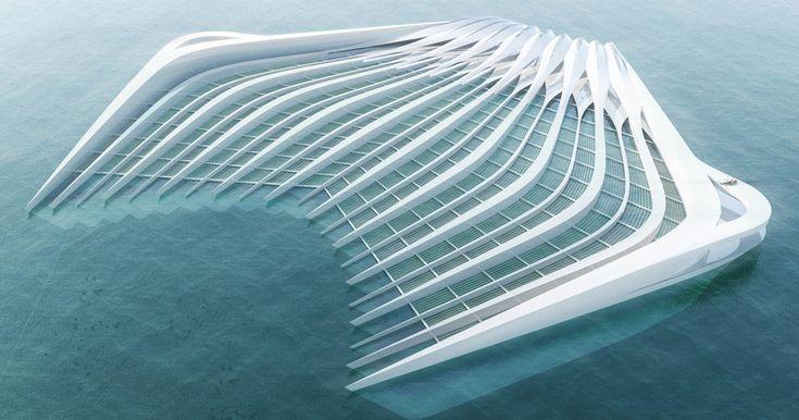 Eine deutsche Architektin hat eine Anlage entwickelt, welche die Meere von Müll befreien soll: Die schwimmende Plattform kann Plastik aus dem Wasser filtern