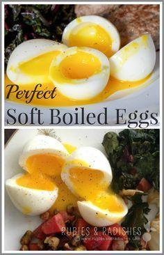 Perfect Soft Boiled Eggs! - www.rubiesandradishes.com