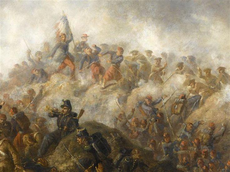 Episode du siège de Sébastopol pendant la Guerre de Crimée en 1855 Duvaux Jules-Antoine (1818-1884)