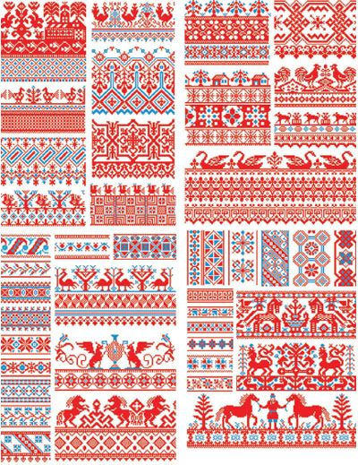 Nordic Knitting Patterns Free : Free Download: Russian Folk Art EPS files. Awesome for fair isle/intarsia but...