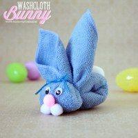 Washcloth Bunny Kid's Craft