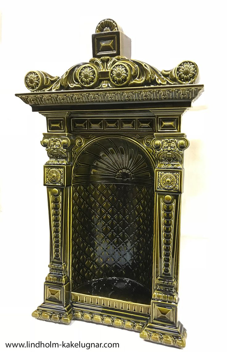 Fantastic niche from a tiled stove made by the Rörstrand factory in Stockholm, 1885.