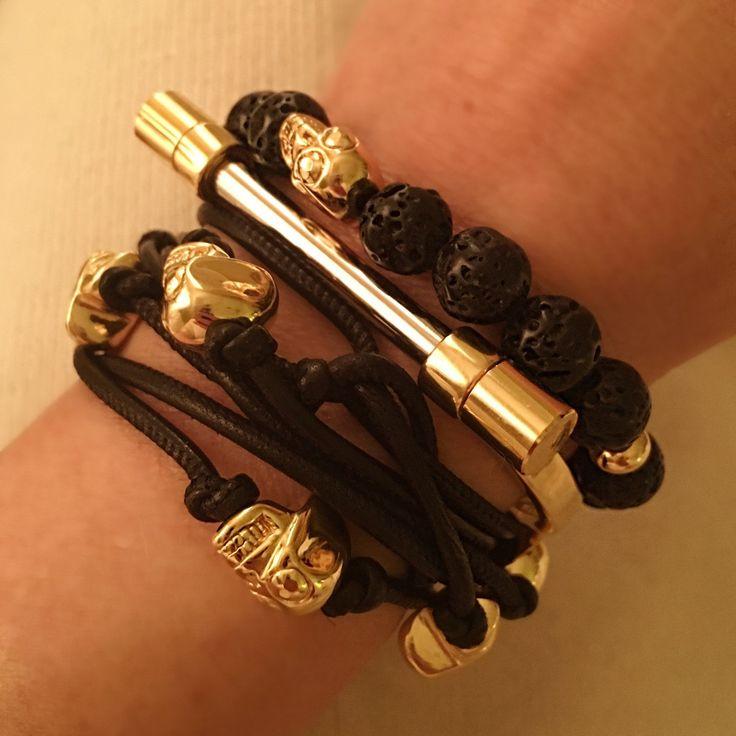 The Black Lava Italian Bead Station Bracelet – Lisa Robertson
