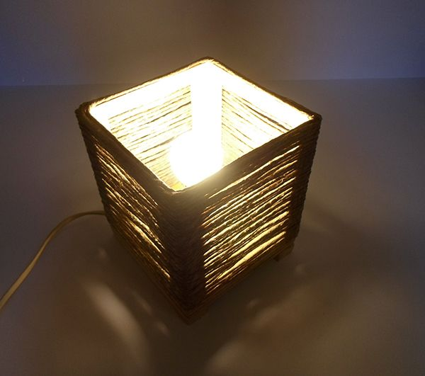 https://www.behance.net/cicciap _Twine lamp on Behance_  #lamp #handmade #twine #wood #recycling #lampada #faidate #fattaamano #riciclo #spago #legno #lampadaspago