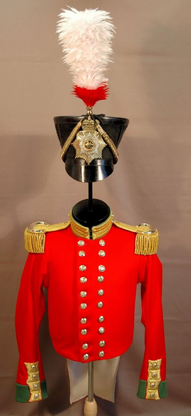 4th Officer Coat and Shako, 1830  for Fort Lennox National Historic Site