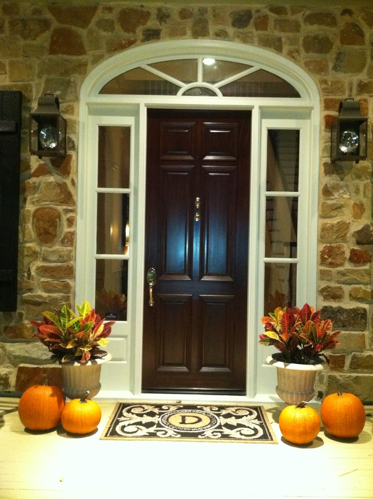 Our porch:  Pumpkins and Fall