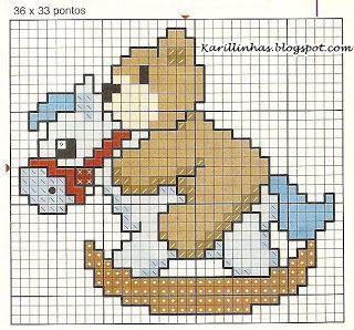 Karilla e o Ponto Cruz: Ursinhos ... O seu trabalho muito mais fofo !