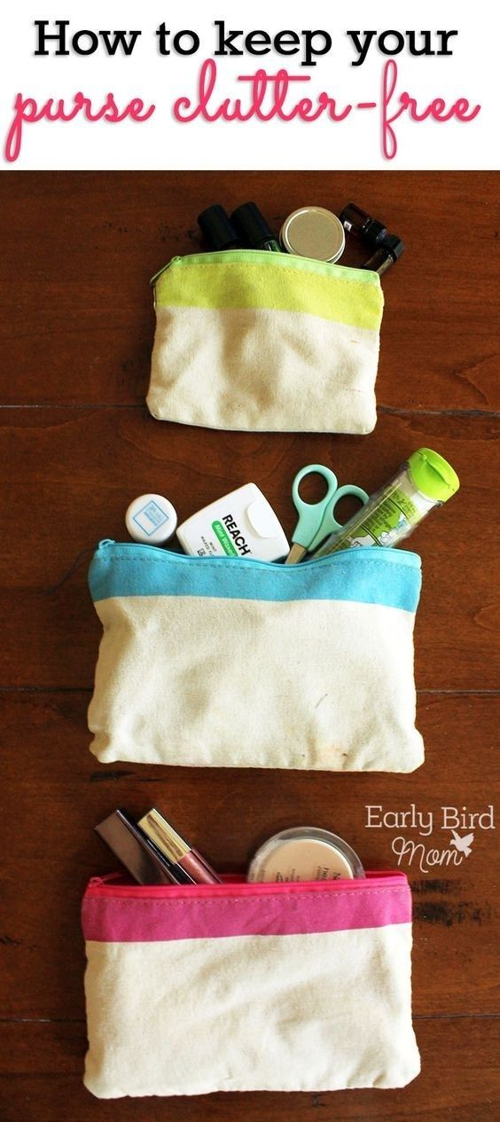 Go through your purse and do the same thing: toss the trash.   7 Quick Organizing Tricks You'll Actually Want To Try