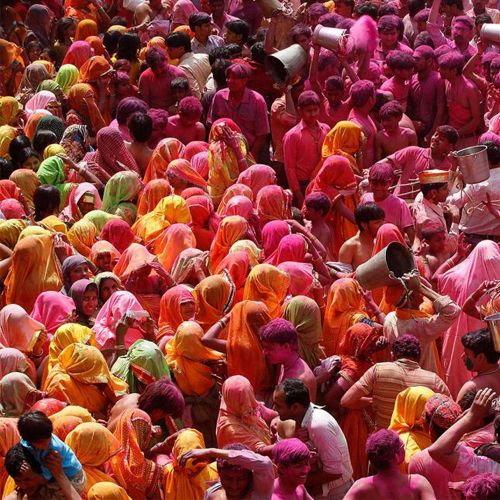 Today, the Hindu festival of colors marks the arrival of spring. Holi traditions include singing, dancing, and throwing vibrant powders and liquids on friends, family, and other revelers. | via Travel + Leisure