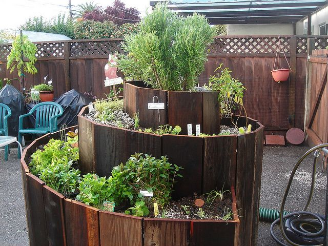another beautiful example of an herb spiral garden