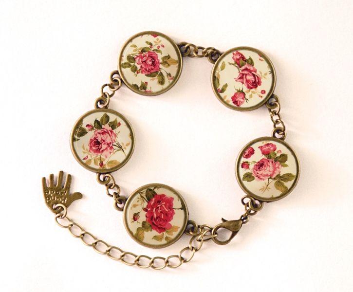 Bracelet RETRO FLOWERS, RETRO Jewellery, 0218BB from EgginEgg by DaWanda.com