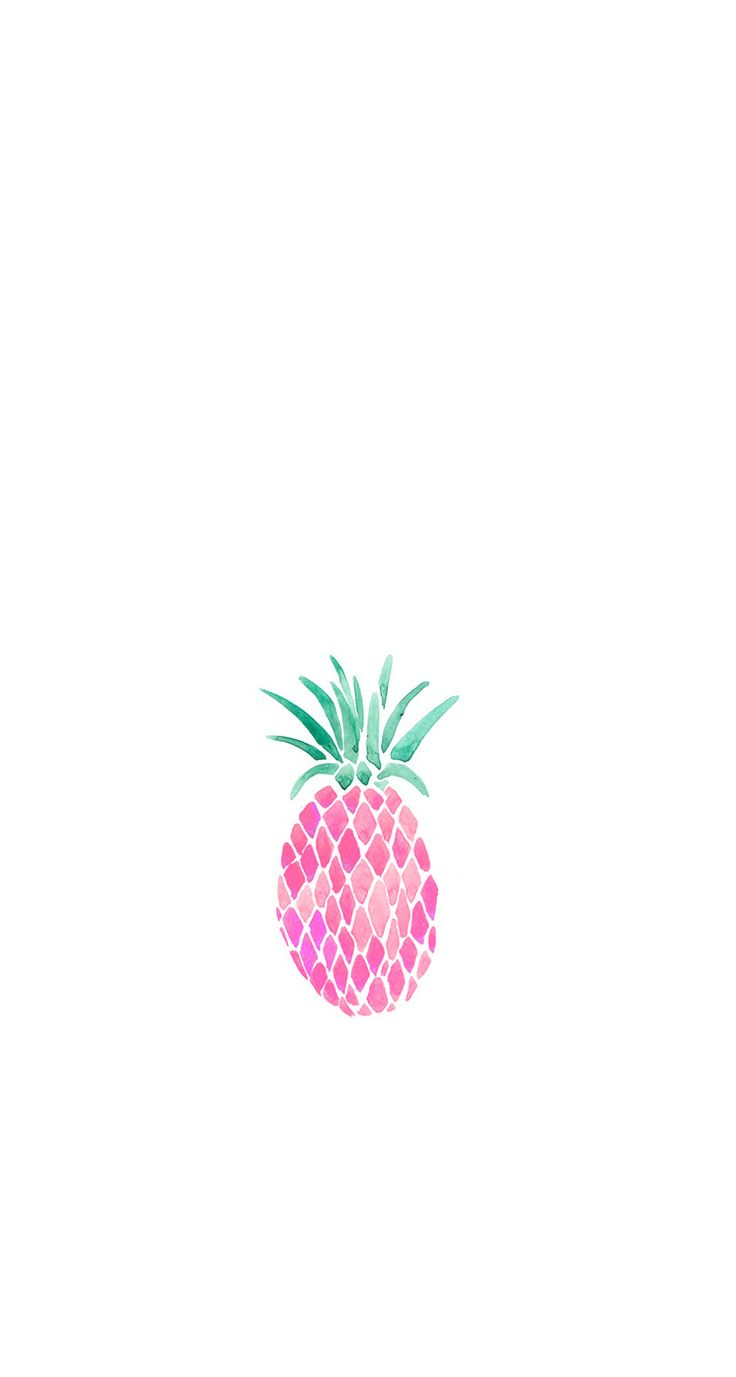 Pink pineapple iphone wallpaper