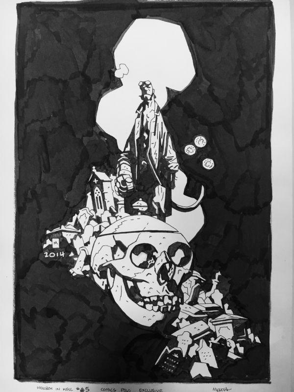 Hellboy in Hell #5 Comic Art