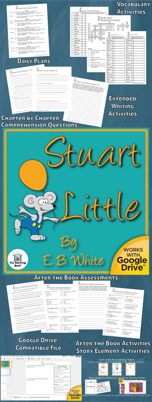 worksheet Stuart Little Worksheets Free 68 best stuart little activities images on pinterest novel study is a common core standard aligned book unit to be used with
