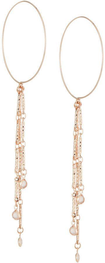 Fragments for Neiman Marcus Hoop Wire Earrings w/ Crystal Drop