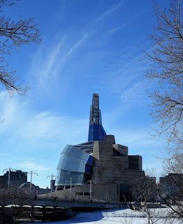 The Canadian Museum for Human Rights is a national museum in Winnipeg, Manitoba. Construction of this 12 story structural expressionism style building began in 2009 and ended in 2014. On 3 July 2010, Elizabeth II, unveiled the buildings cornerstone. The architect, Antoine Predock, is from Albuquerqu