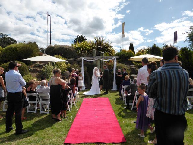 Red Carpet.  http://www.tailracecentre.com.au/weddings/