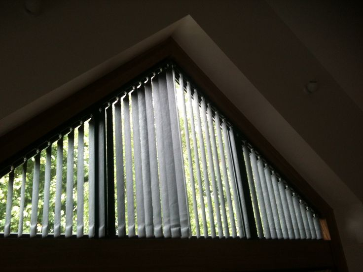 Triangle Window Coverings Vertical Blinds Used In Triangular Head Of Window Bobbin House