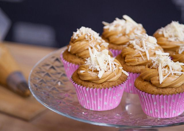 Salted Caramel and white chocolate cupcakes recipe
