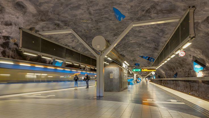 Vreten (Solna Strand) subway station in Stockholm