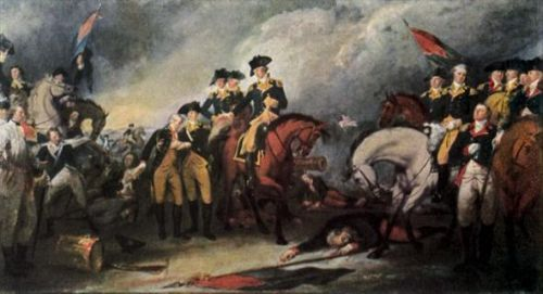 battles of new jersey | Hessians surrender at the Battle of Trenton as portrayed by John ...