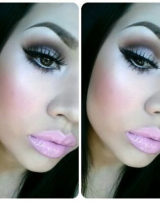 Really like the eye makeup however lips are too much in my opinion x