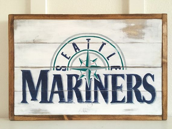 16 x 24 Seattle Mariners reclaimed wood sign. Can be custom ordered.