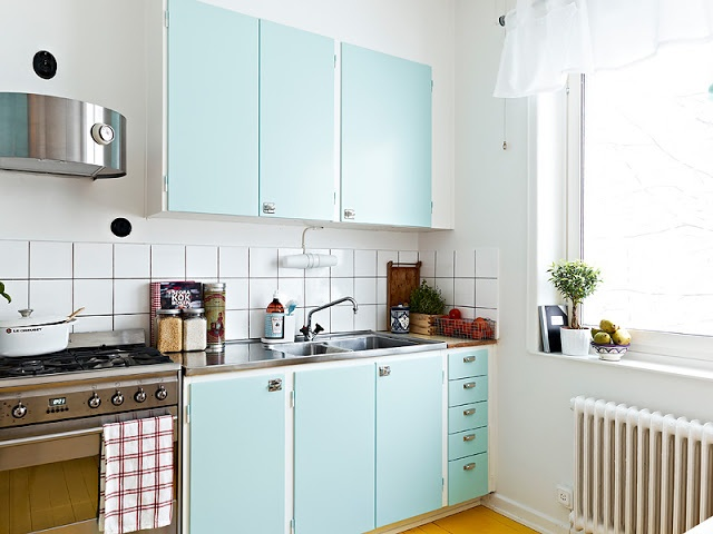 Keuken Kasten Melamine : ... Schilderen op Pinterest - Keukenkastjes ...