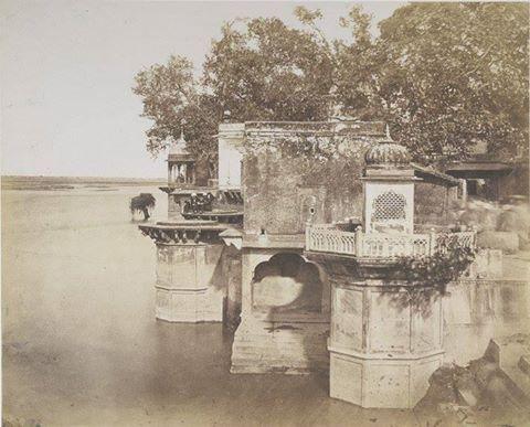 Kesi Ghat and Jamuna river, Vrindavan, 1850