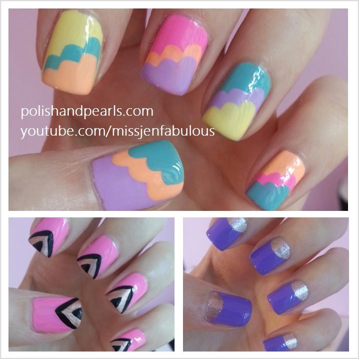 super cool pink nail design