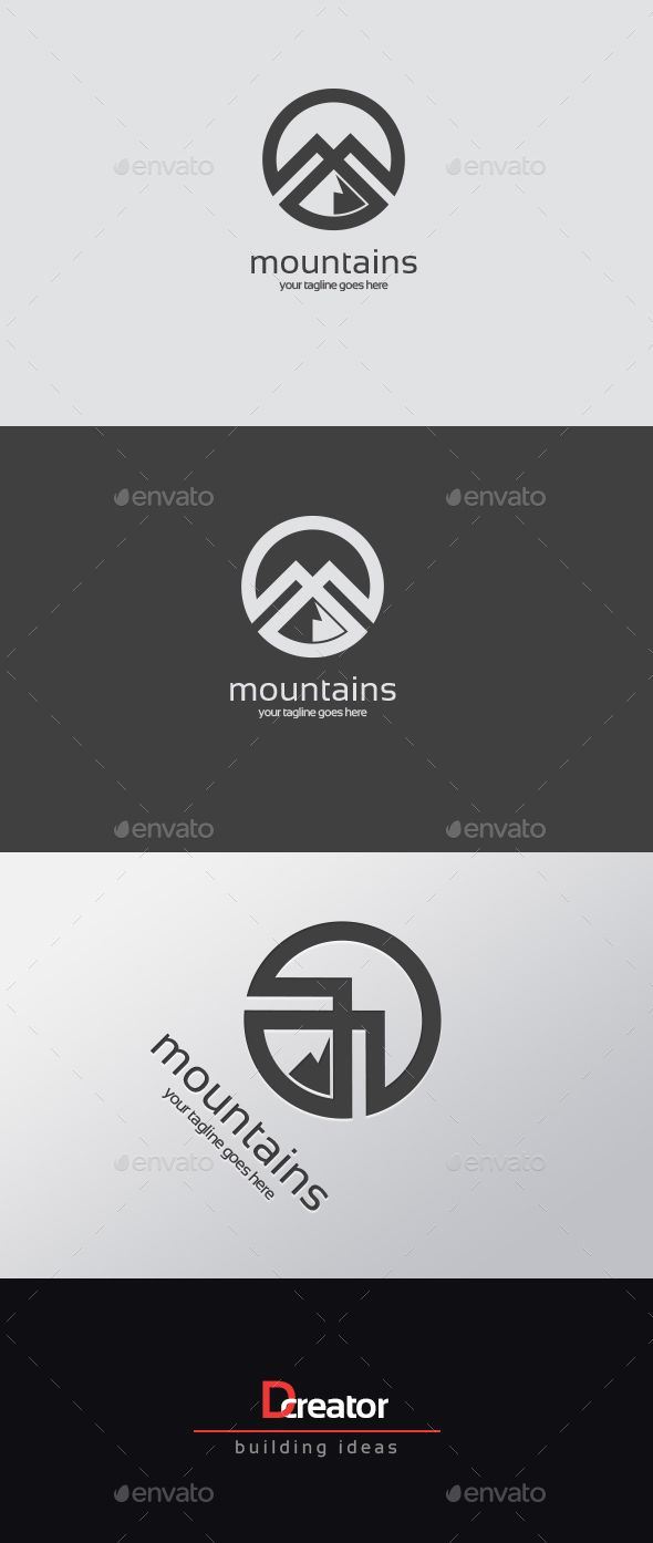 Mountain logo — Vector EPS #rock #mountain • Available here → https://graphicriver.net/item/mountain-logo/15506333?ref=pxcr
