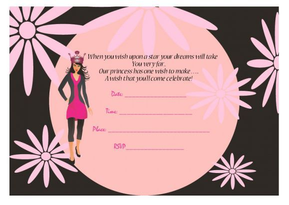25 best Princess Birthday Party Invitations images on Pinterest - best of invitation template princess