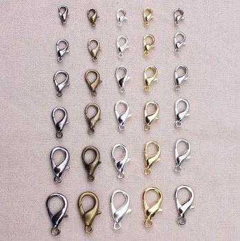 20 stks/partij 10mm 2015 Nieuwe Mode-sieraden Sluitingen Lichtmetalen brons/goud/gunblack/rhodium/zilveren Kreeft sluiting Jewely Bevindingen