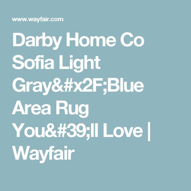 Darby Home Co Sofia Light Gray/Blue Area Rug You'll Love | Wayfair