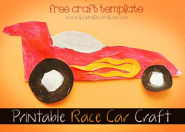 Printable Race Car Craft | LearnCreateLove.com