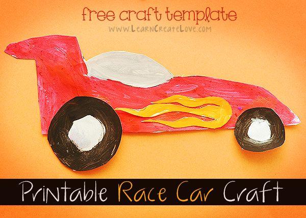 printable race car craft learncreatelovecom