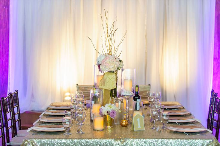 Wedding head table decor - Riverview Wedding