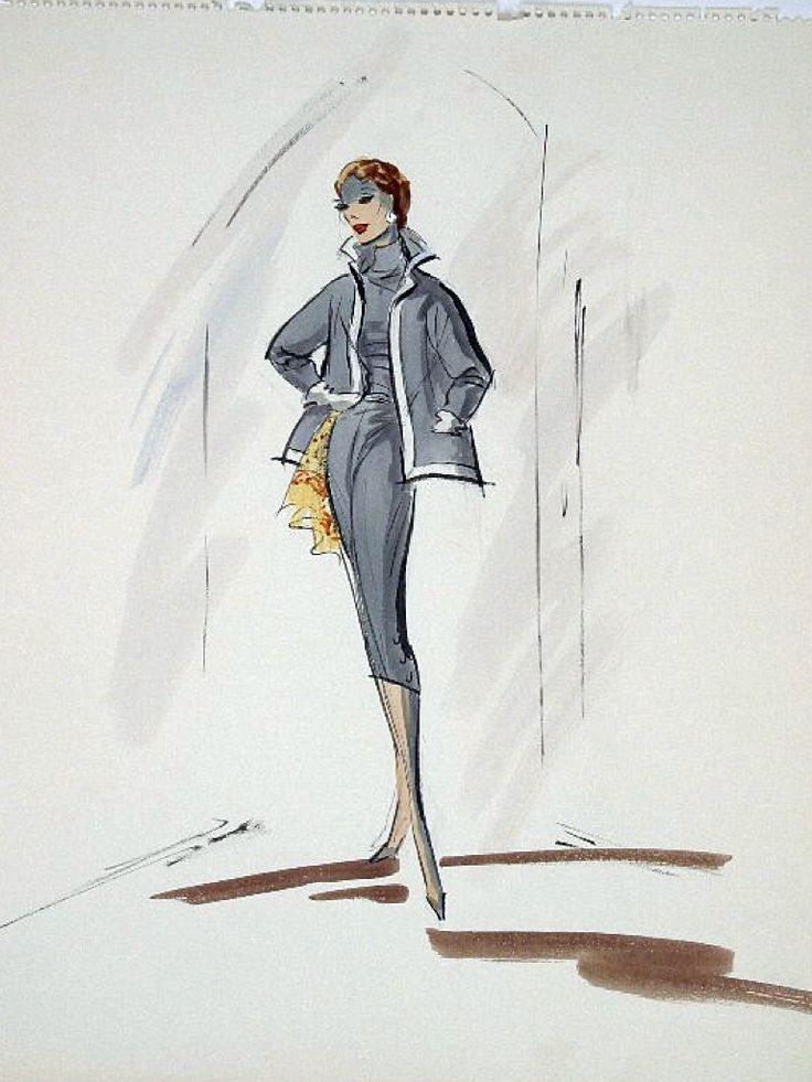 Edith Head sketch for Eleanor Parker in