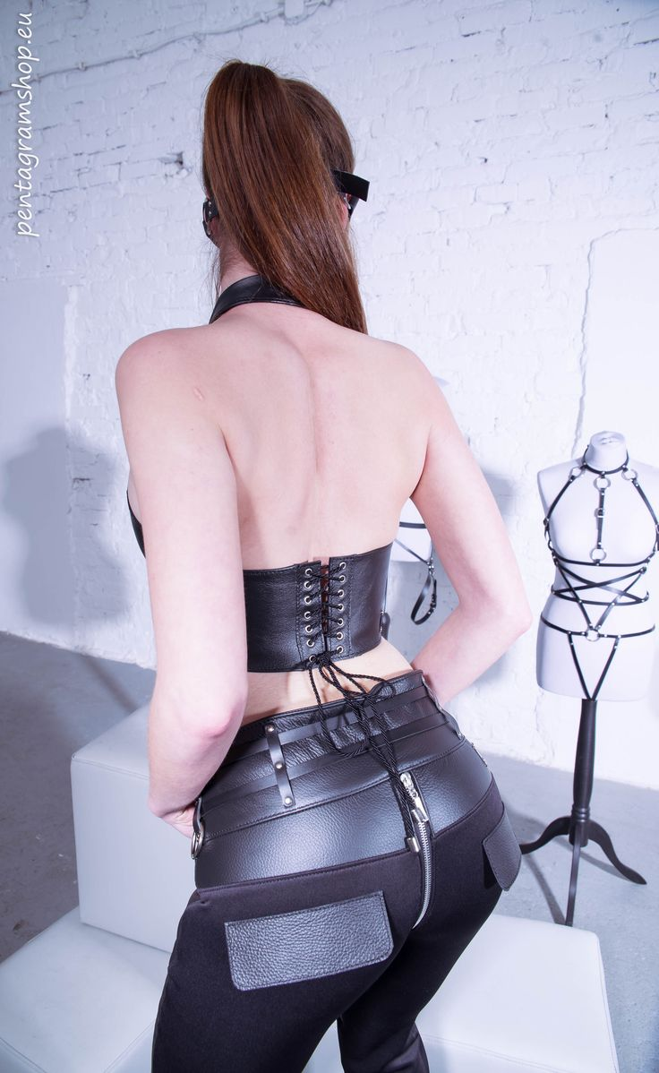 "Leather simple top ""Cinderella"" www.pentagramshop.eu #fetish #bdsm #leather #top"