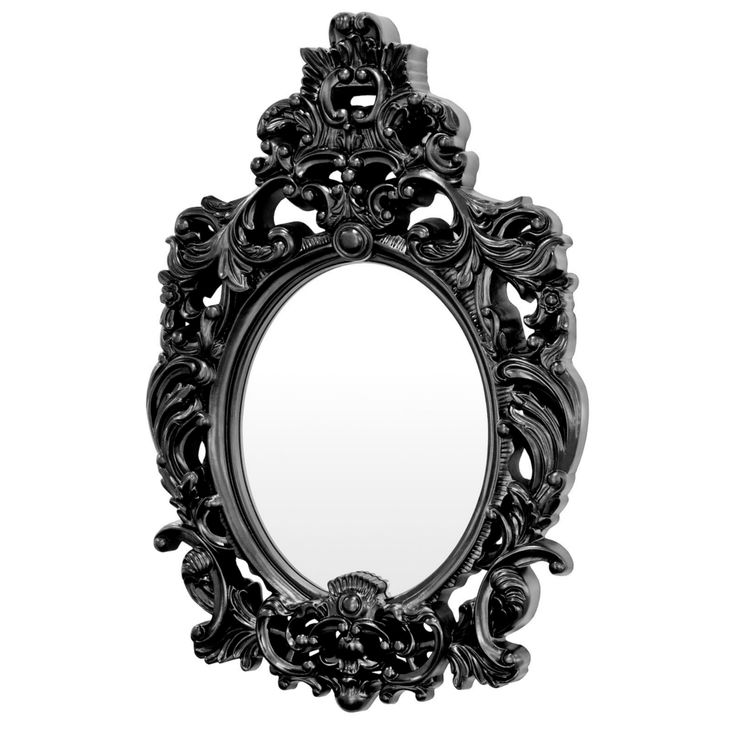 Andrea Ornate Black Wall Mirror from Serendipity Home Interiors