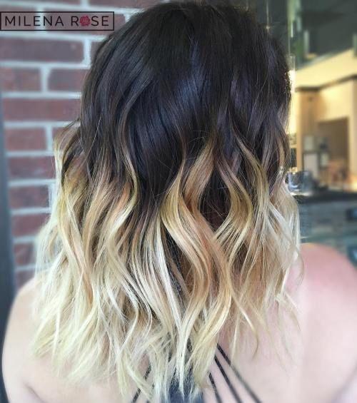 Image result for black blonde ombre