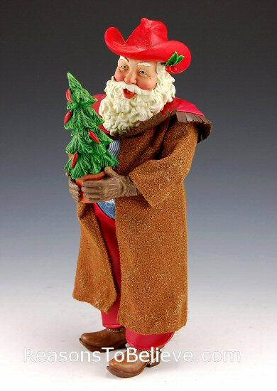 cowboy santa collectable figures | Home > Santa Figurine Themes > Cowboy Santas > Western Santa Claus
