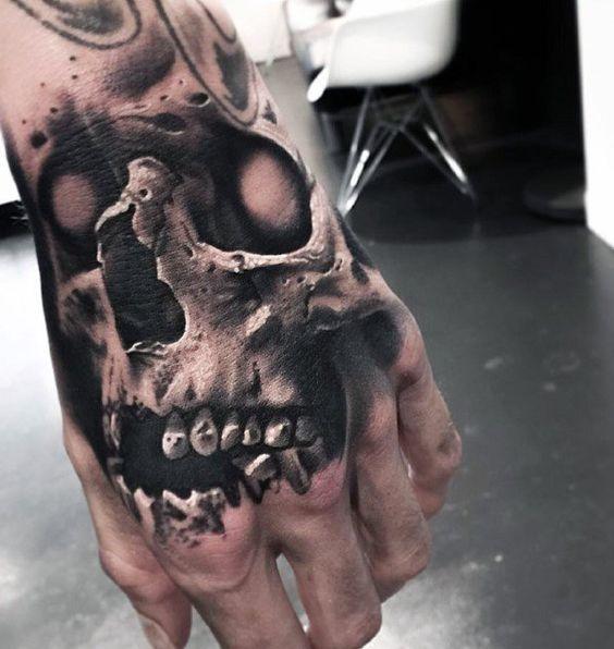 60 Badass Schädel Tattoos für Männer – Maskulin Design-Ideen