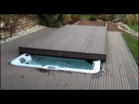 Custom rolling deck option available on Riptide swim spas - YouTube