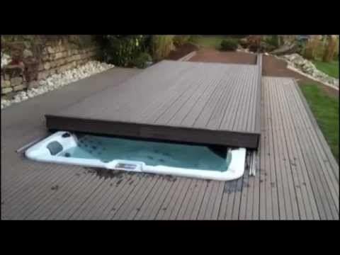 Custom rolling deck option available on Riptide swim spas - YouTube